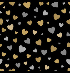 Beautiful seamless pattern with gold and silver vector