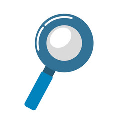 Blue magnifying optical search tool vector