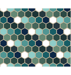 blue shades hexagon geometric pattern vector image