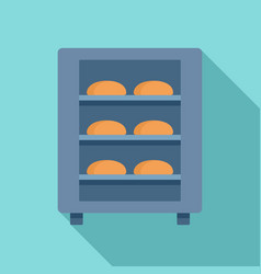 bread factory oven icon flat style vector image