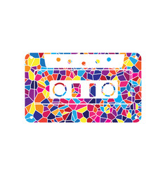 cassette icon audio tape sign stained vector image
