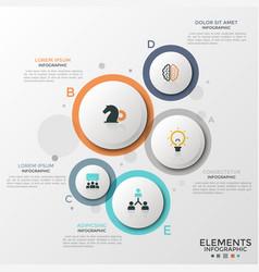 Circular translucent infographics vector