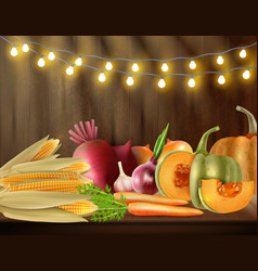 colored thanksgiving day background vector image