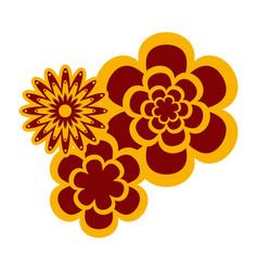 decorative asian flowers vector image