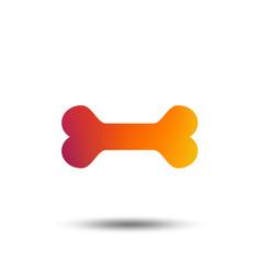 dog bone sign icon pets food symbol vector image