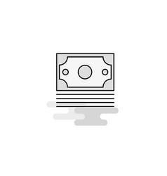 dollar web icon flat line filled gray icon vector image