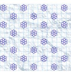 Drawn flower pattern vector image