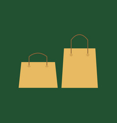 empty blank template paper bag sale natural vector image