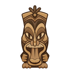 Exotic tiki idol icon cartoon style vector