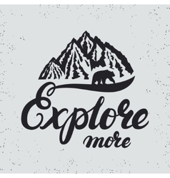 Explore more hand written lettering typography vector image