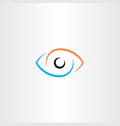 Eye logo sign symbol vector