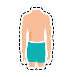 fit body icon image vector image