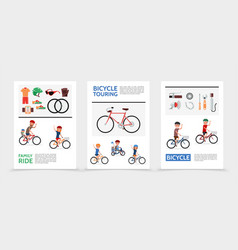 flat bicycle posters vector image
