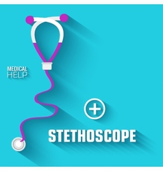 flat medical stethoscope background concept vector image