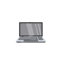flat modern slim laptop icon vector image