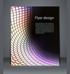 flyer design or magazine cover poster vector image