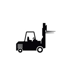 forklift icon design template isolated vector image