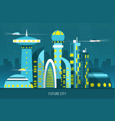 Future city horizontal vector