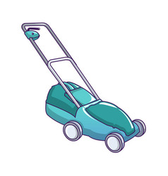 green cut machine icon cartoon style vector image