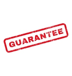 Guarantee text rubber stamp vector