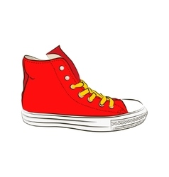 Hand drawn sneakers gym shoes Keds vector image