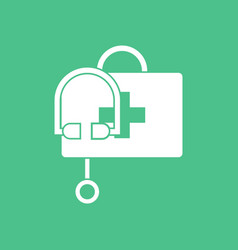 Icon first aid bag vector
