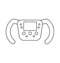 Isolated steering wheel design vector