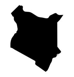 kenya - solid black silhouette map of country area vector image