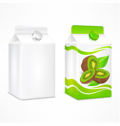 Kiwi juice package vector