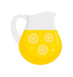 Lemonade jug icon flat style vector