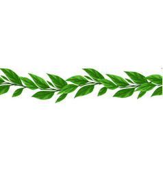 Liana seamless pattern jungle vines plant vector