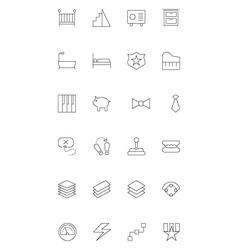 Line icons 16 vector