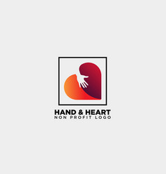 love care give heart logo template icon element vector image