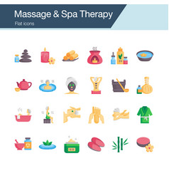 massage and spa therapy icons flat design vector image
