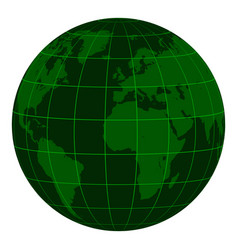 model earth globe continents and a coordinate grid vector image