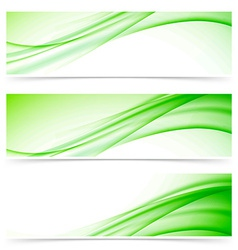 Modern abstract swoosh line header set vector