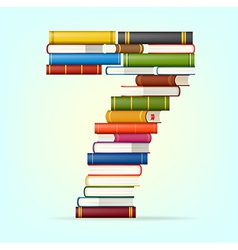 Numbers from stacks of multi colored books vector