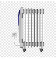 Portable heater mockup realistic style vector
