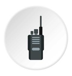 Portable radio transceiver icon circle vector