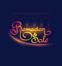Ramadan islamic holiday sale banner handwritten vector