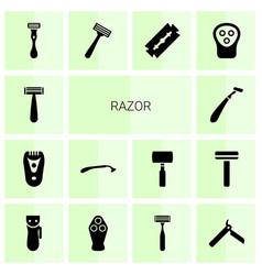 Razor icons vector