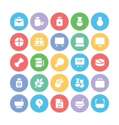 Science Colored Icons 9 vector