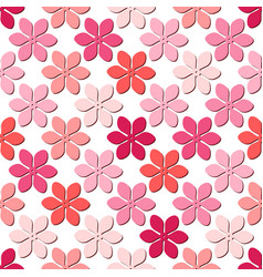 seamless spring pattern with single pink flowers vector image