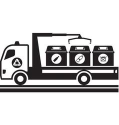 Separate waste transportation vector