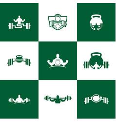 Set fitness letter logo icon design vector