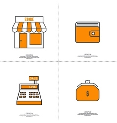 Set of icons pictograms vector image