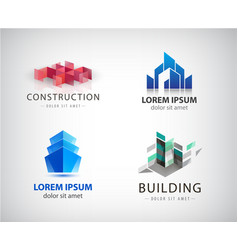 set off bilding logos architecture vector image