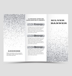 silver brochure layout design business vector image