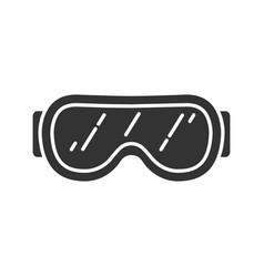 Ski goggles glyph icon vector