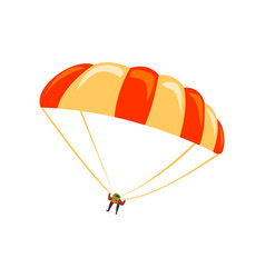 skydiver flying with parachute in the sky vector image